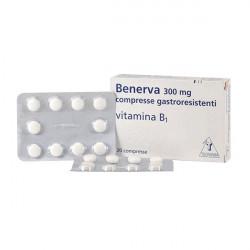 Купить Бенерва (тиамина хлорид в таблетках) 300мг №20 в Новосибирске