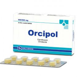 Купить Орципол (Ципрофлоксацин, Орнидазол) таблетки N10  в Новосибирске
