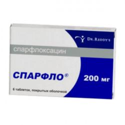 Купить Спарфлоксацин Spar (Флоксимар, Спарфло) 200мг таблетки №6 в Новосибирске