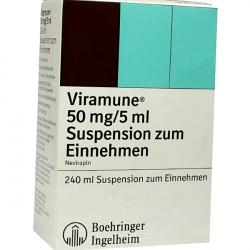 Купить Вирамун (Невирапин) сироп для новорожденных (суспензия) 50мг/5мл 240мл в Новосибирске